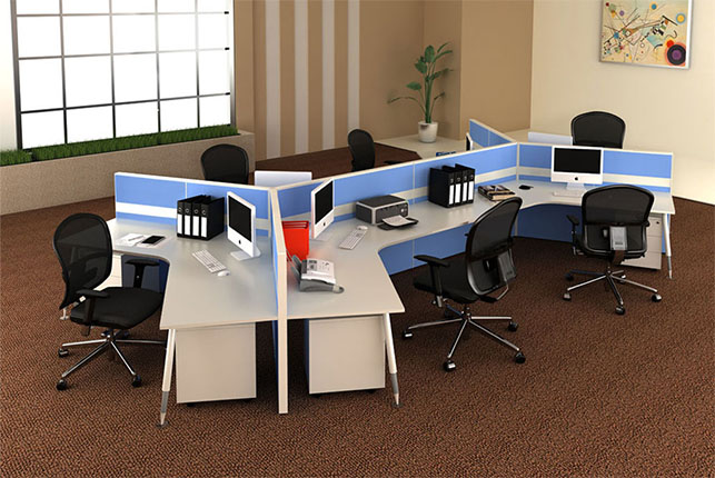 Get Modular Furniture And Portable Cubicles From Office Furniture Manufacturers
